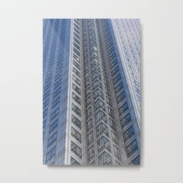 One Canada Square Abstract Metal Print