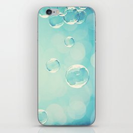 Bubble Photography, Laundry Room Soap Bubbles, Aqua Teal Bathroom Photography iPhone Skin
