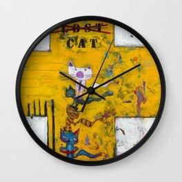 Lost Cat Wall Clock