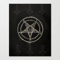 pentagram Canvas Prints featuring Pentagram by Corpse inc