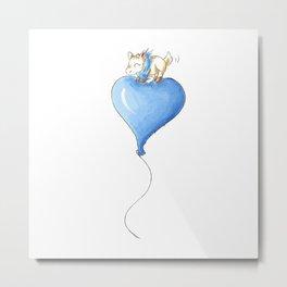 Balloon Ride (Baby Boy) Metal Print
