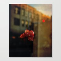 polka dots Canvas Prints featuring Polka Dots by Bella Blue Photography