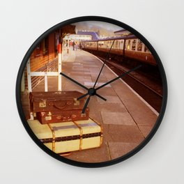 Cases At The Old Train station Warm Hues Wall Clock
