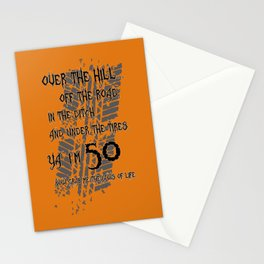 """Over The Hill """"50"""" Stationery Cards"""