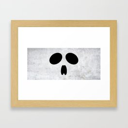 Halloween Skull Framed Art Print