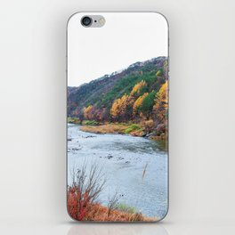 Scenic Fall Nature Lanscape with Stream and Hills iPhone Skin