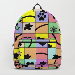 Eclectic Rainbow Squares Backpack