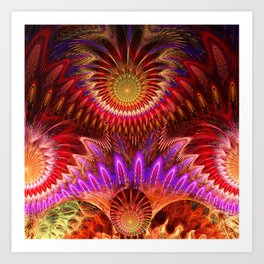 Devious ways, colourful pattern abstract Art Print