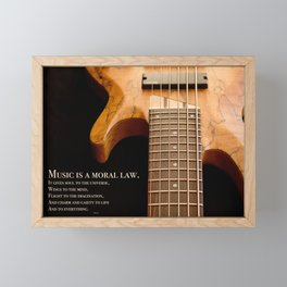 Music is a Moral Law Framed Mini Art Print