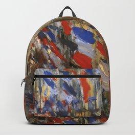 "Claude Monet ""The Rue Saint Denis, 30th of June 1878"" Backpack"