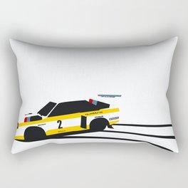 Quattro Slide Rally Car Rectangular Pillow