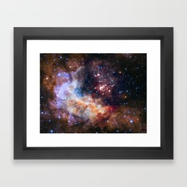 Hubble 25th Anniversary Image Framed Art Print
