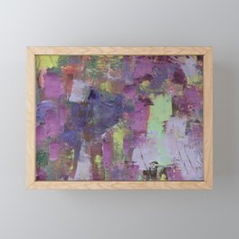 Blue and Purple Framed Mini Art Print