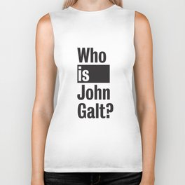 Who Is John Galt? Atlas Shrugged Ayn Rand Biker Tank