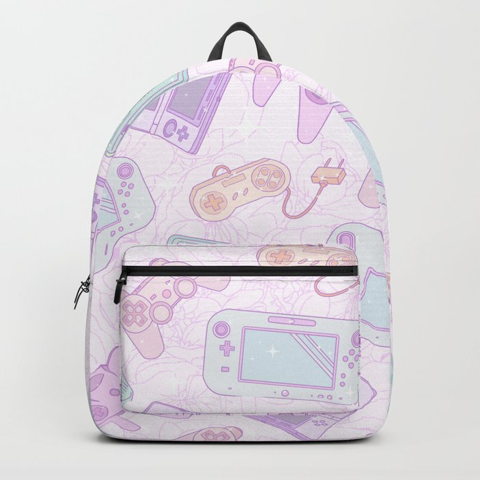 Gamer Girl Pattern Backpack