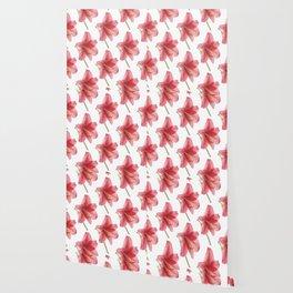Amaryllis pattern Wallpaper
