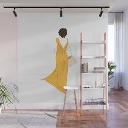 Yellow Dress Fashion Girl Wall Mural