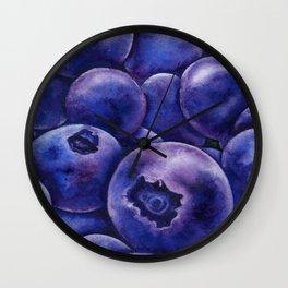 Fresh Blueberries Wall Clock