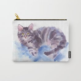 Azure Purr Carry-All Pouch