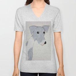 Grey Spotted Greyhound Unisex V-Neck