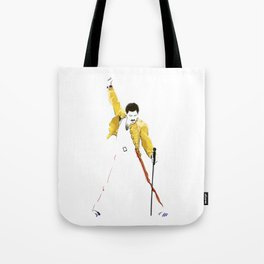 Queen at Wembley Stadium in 1986. Tote Bag