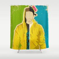 jesse pinkman Shower Curtains featuring Pinkman by Danny Haas