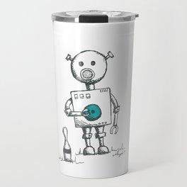 Pigbot goes Bowling Travel Mug