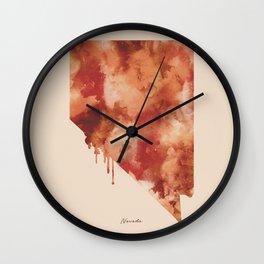 Nevada Watercolor State Wall Clock