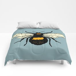 Bumblebee vector Comforters