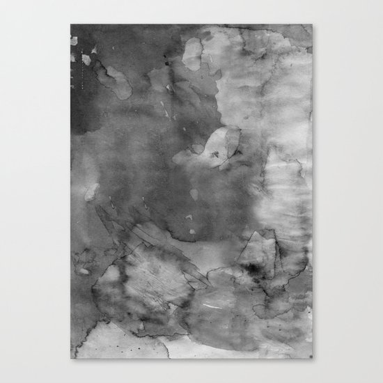 Black watercolor Canvas Print