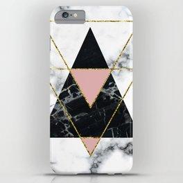 Geo glam marble iPhone Case