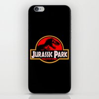 jurassic park iPhone & iPod Skins featuring Jurassic Park by MrWhite
