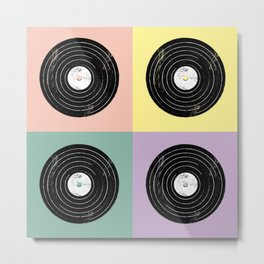 For the Record // Retro Pop Art Design Metal Print