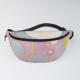The Ten Largest, Group IV, No.8 by Hilma af Klint Fanny Pack