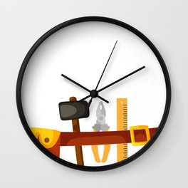 Halloween Handyman Costume For Boys And Men Wall Clock