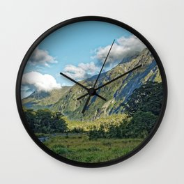Monkey Creek, New Zealand Landscape Wall Clock