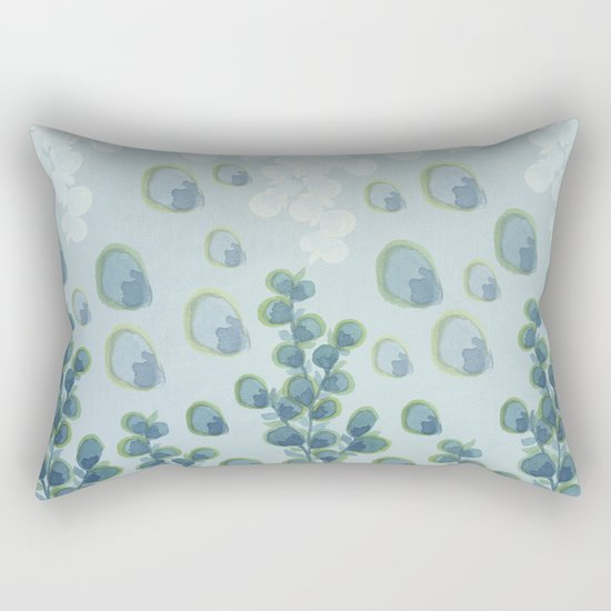 Painted floral Pattern 01 Rectangular Pillow
