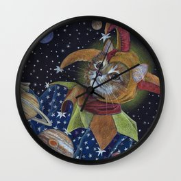 Juggling the Planets Wall Clock