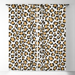 Trendy Leopard Simulated Fur Effect Pattern Blackout Curtain