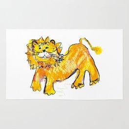Lion illustration for kids Rug