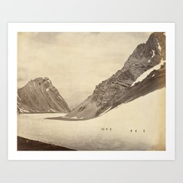 The Manirung Pass - Vintage Indian Photography Art Print