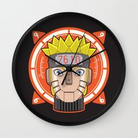 naruto Wall Clocks featuring Mecha Naruto by Enrique Valles