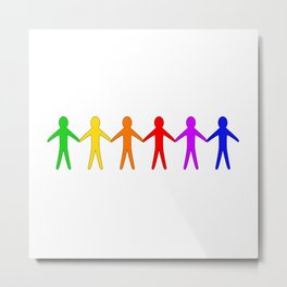 LGBT Cutout People Metal Print