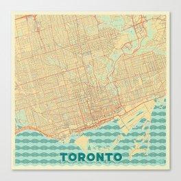 Toronto Map Retro Canvas Print
