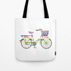 Bicycle with Tribal Pattern Tote Bag