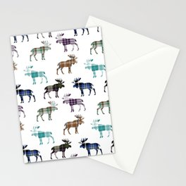 Plaid Moose III Stationery Cards