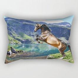 Horse and Lake Rectangular Pillow