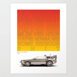 1985 - Doc. Emmett Brown Art Print