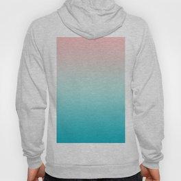 Pastel Ombre Millennial Pink Blue Teal Gradient Pattern Hoody