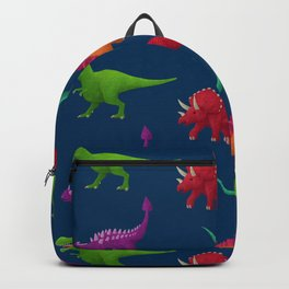 Dino Pattern Backpack